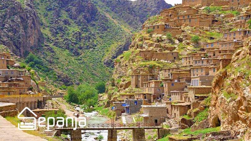 روستای زیبای پالنگان در استان کردستان