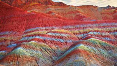 تصویر کوههای رنگین کمان پرو