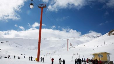 تصویر پیست اسکی پولاد کف سپیدان دومین پیست اسکی ایران