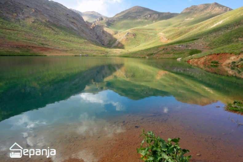 عکس از دریاچه روستای لزور