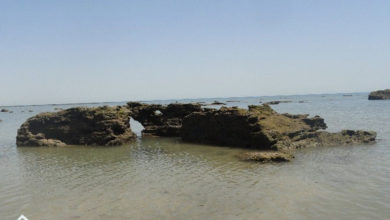 تصویر از ساحل روزنه دریا ؛ جاذبه ای اعجاب انگیز در جزیره هرمز