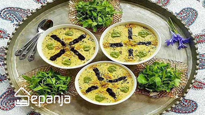 آش ماست از غذاهای محلی تبریز