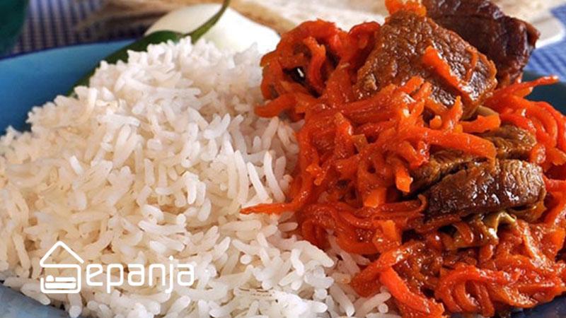 خورش هویج از غذاهای محلی تبریز