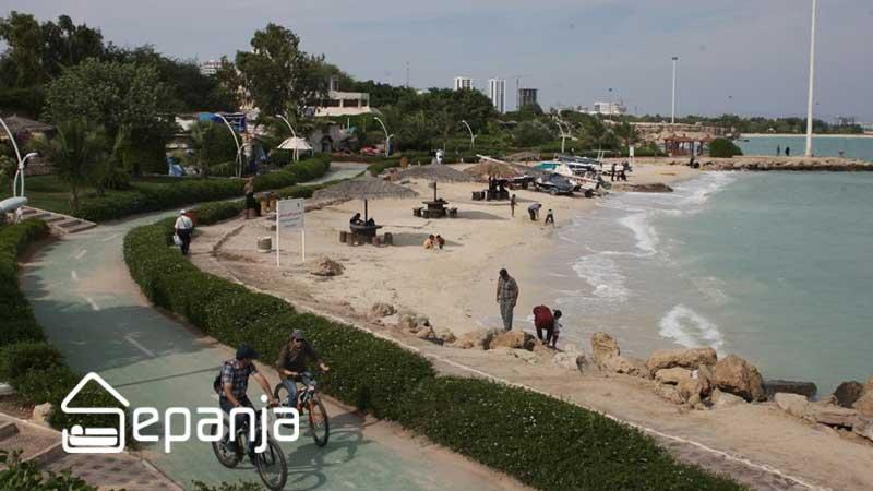 شانایی با ساحل مرجان کیش
