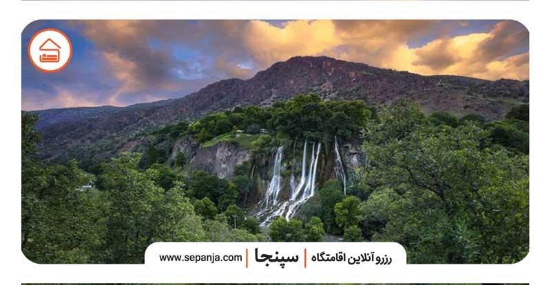 آبشار چه جا در علی آباد کتول