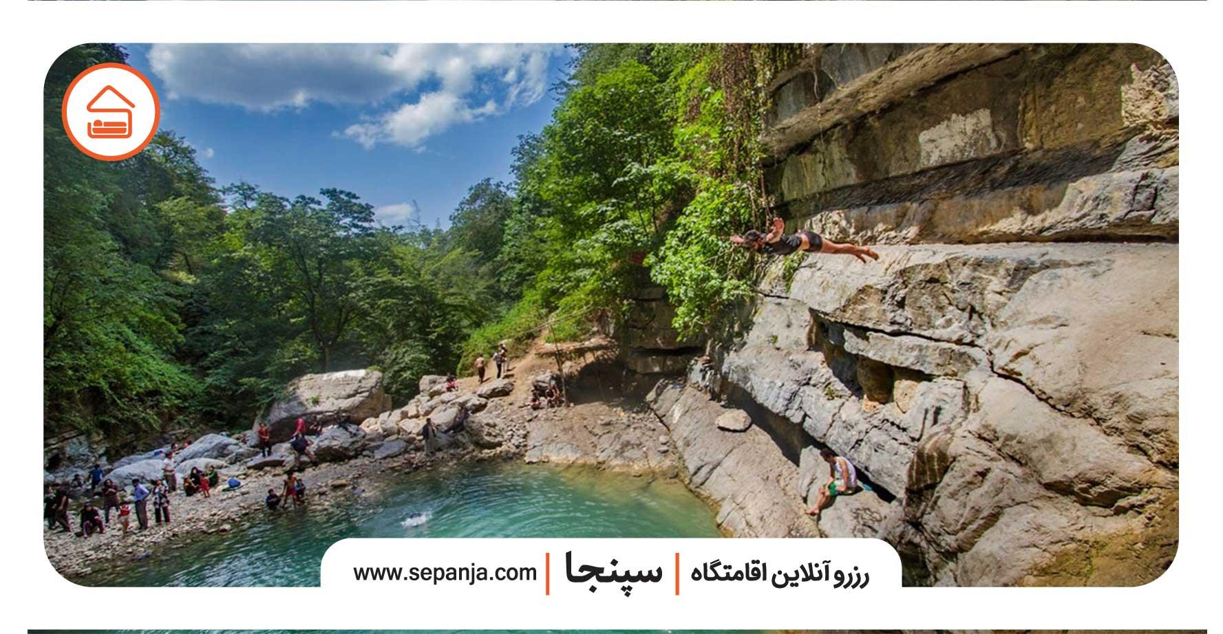 آبشارهای شیرآباد از دیدنی های استان گلستان