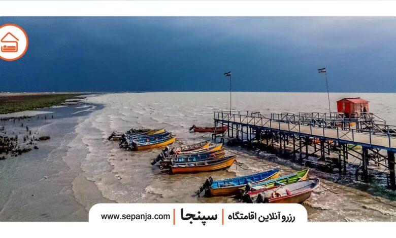 نمایی از ساحا شهر بندر ترکمن
