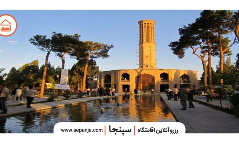 نمایی از باغ دولتآباد یزد