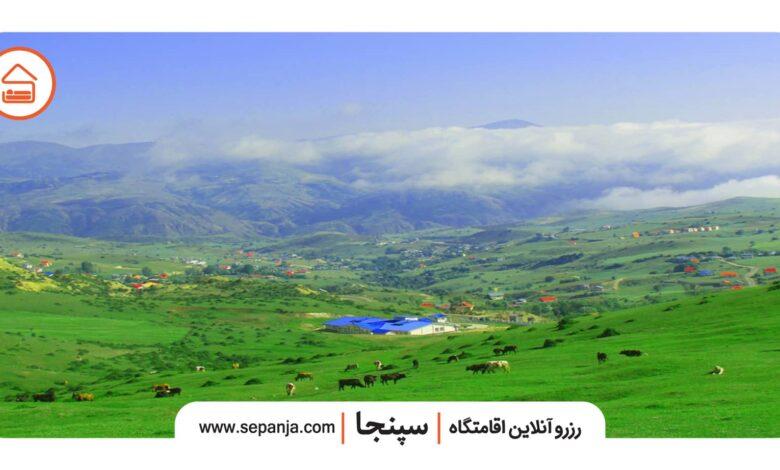 جاهای دیدنی استان گیلان و نمایی از شهر دیلمان