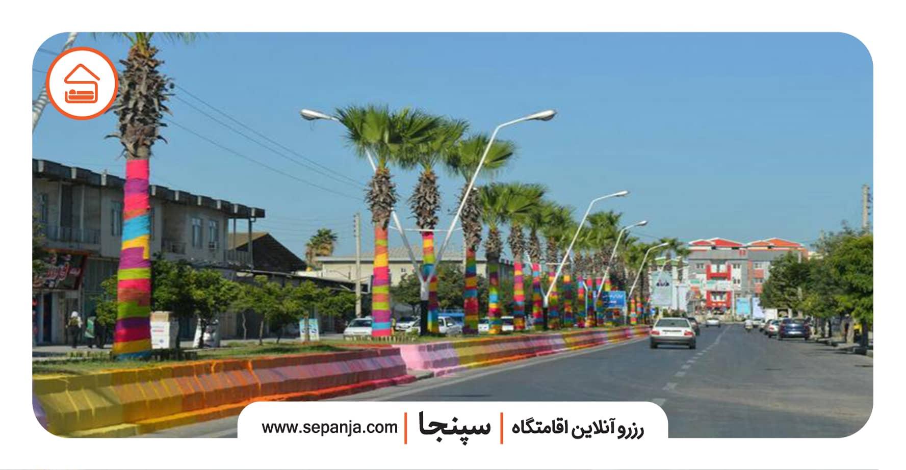 نمایی از خیابان های بندر ترکمن
