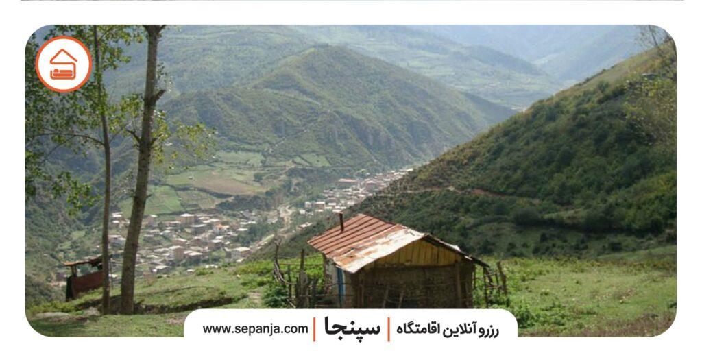 نمایی از روستای زیارت گرگان
