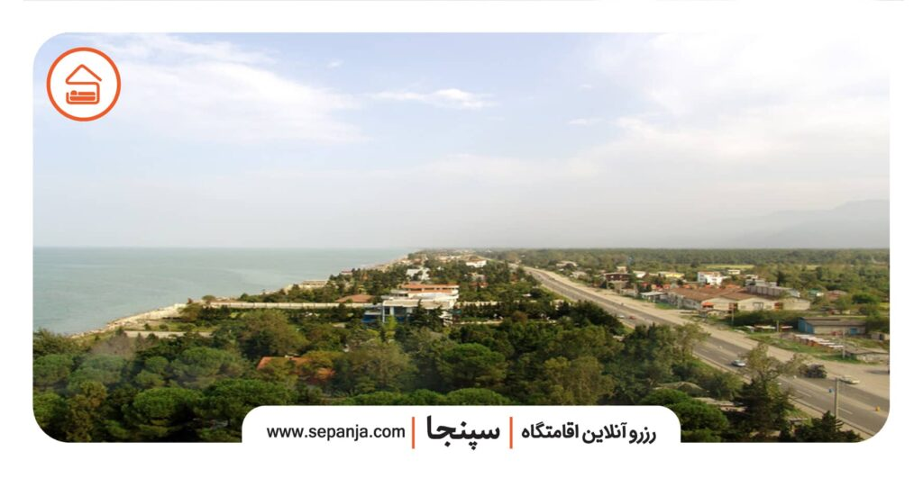 نمایی از شهر نشتارود در استان مازندران