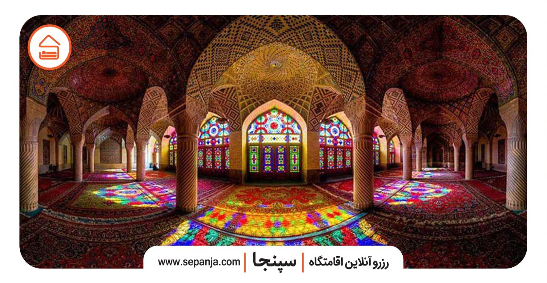 نمایی از جاهای دیدنی مسجد نصیرالملک شیراز