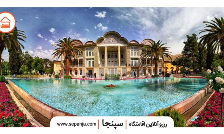 نمایی از باغ ارم شیراز