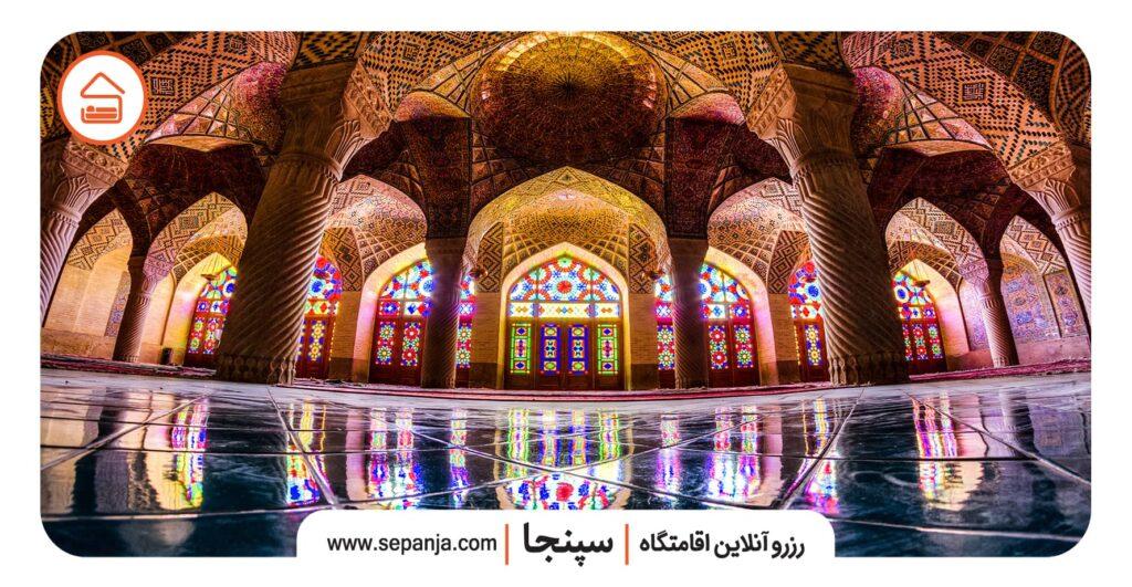 نمایی از مسجد نصیرالملک شیراز