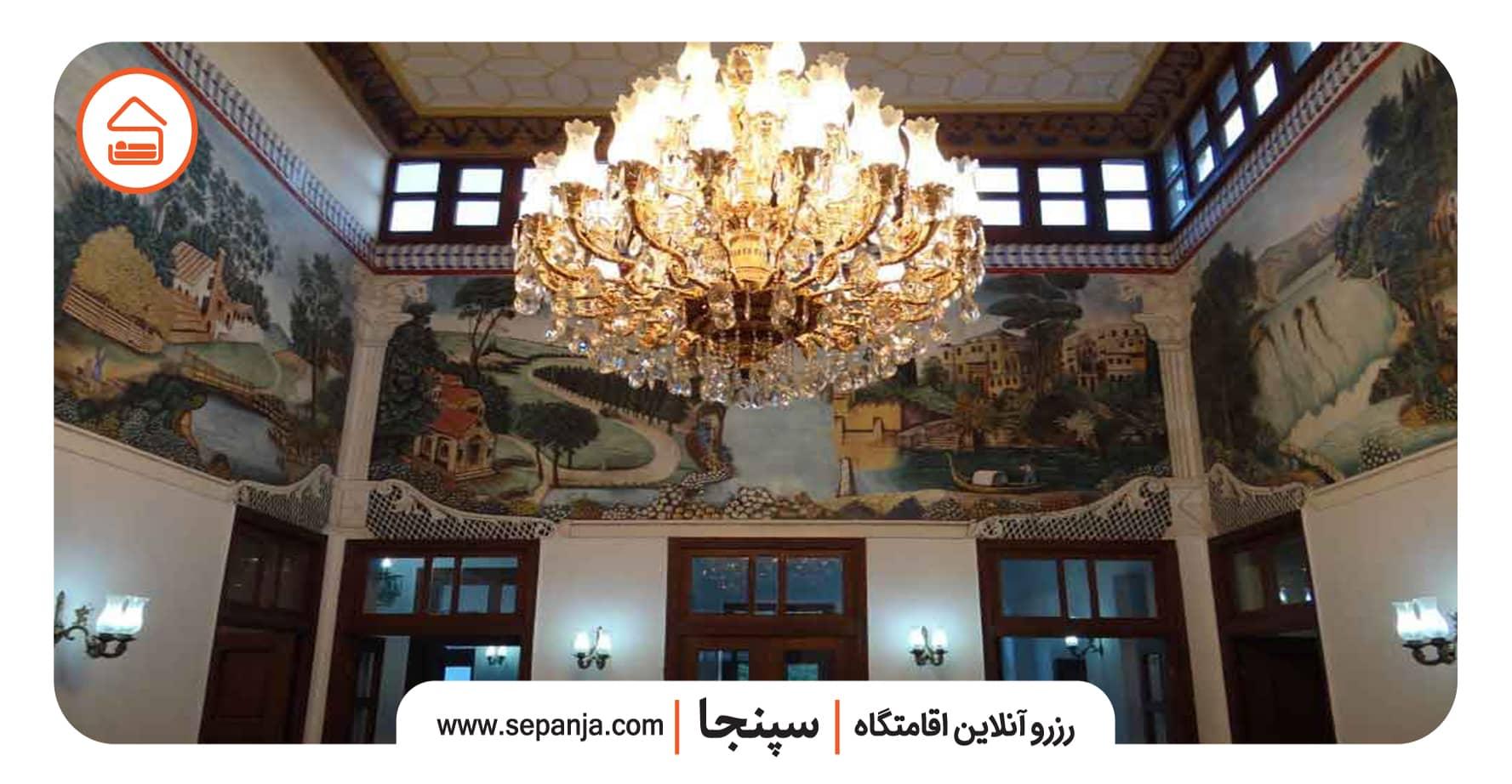 داخل عمارت شاپوری در شیراز