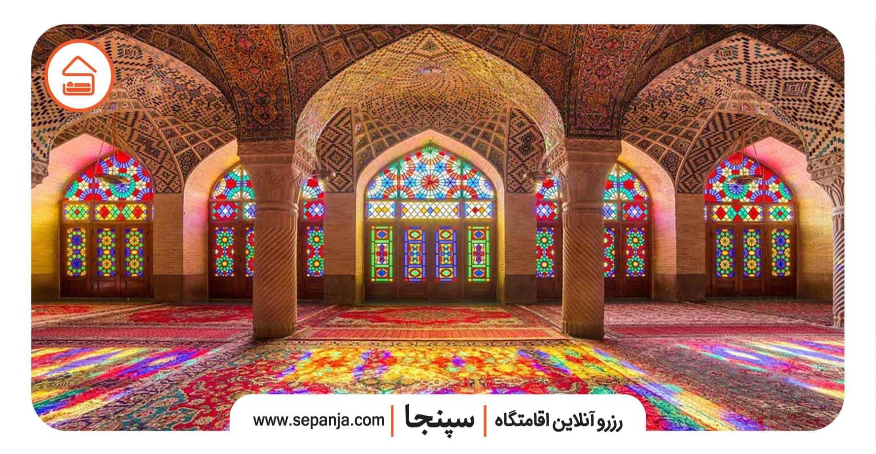 دیدنی های مسجد نصیرالملک شیراز