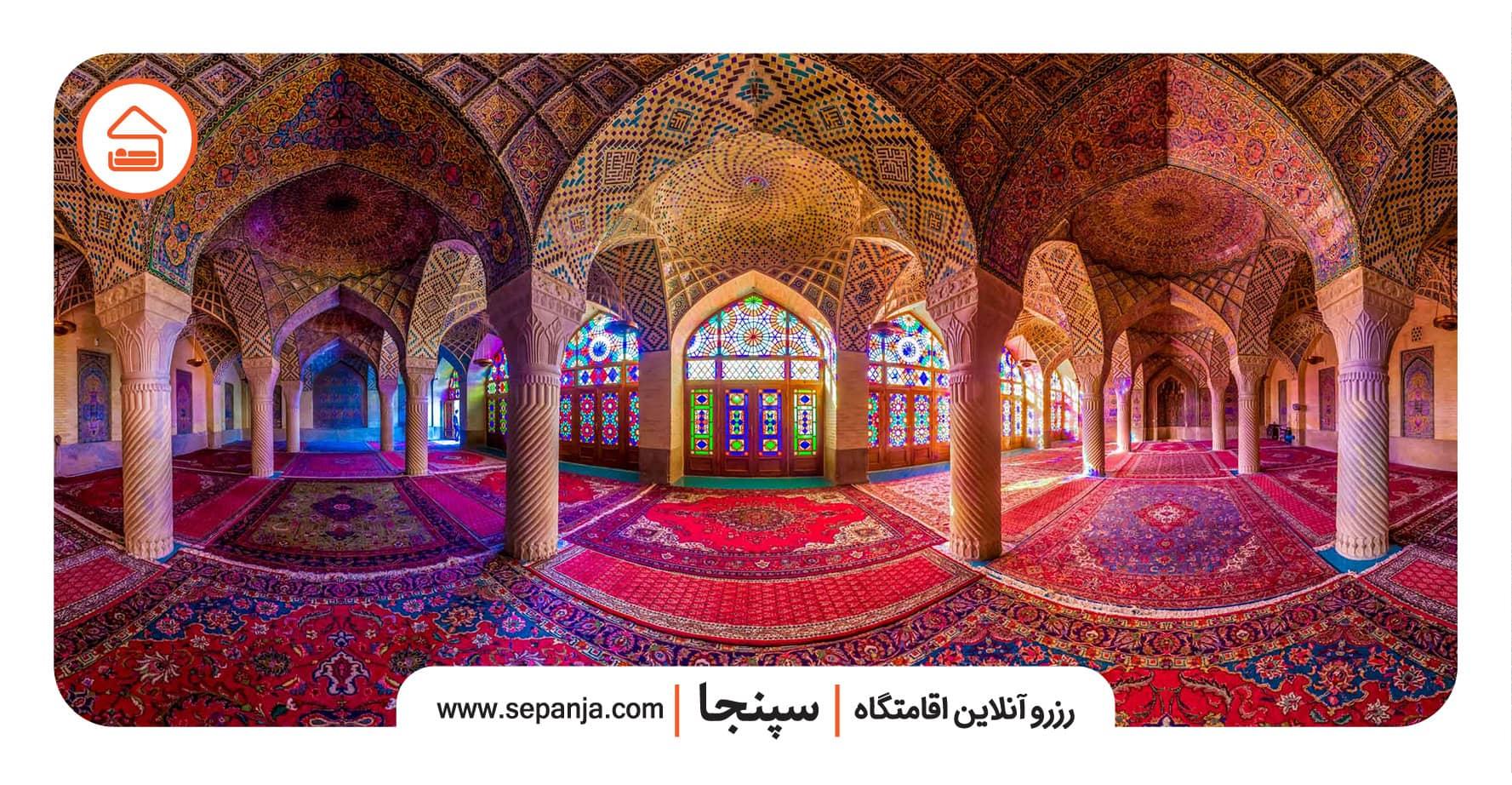 نمایی از دیدنی ها در راهنمای سفر به شیراز