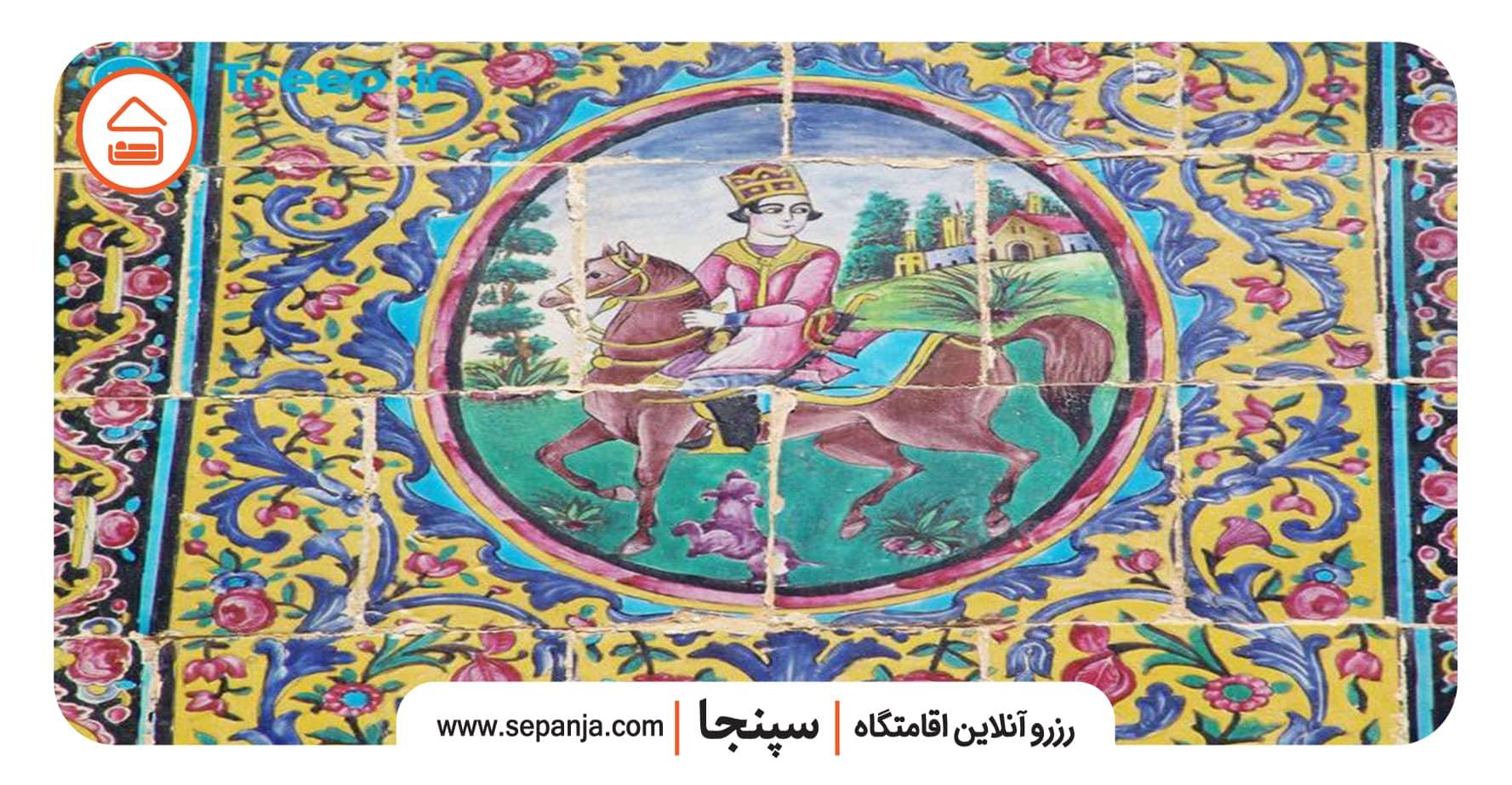 نمایی از معماری باغ ارم شیراز