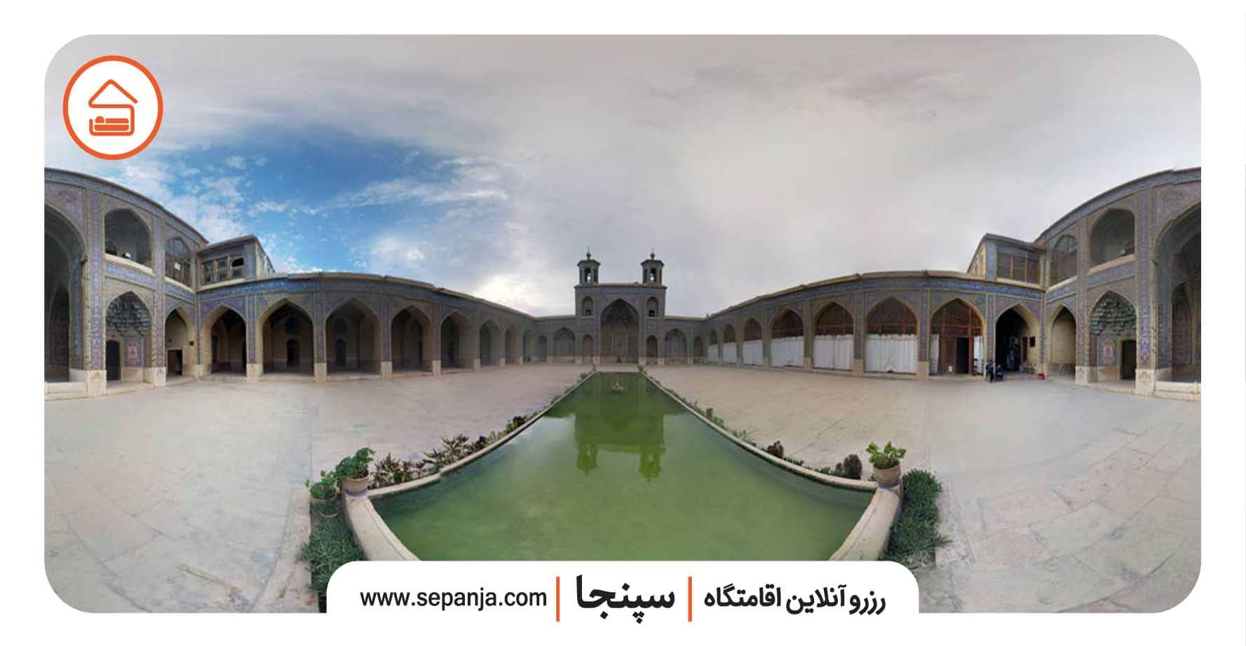 مسجدنصیر الملک از بهترین جاهای دیدنی شیراز