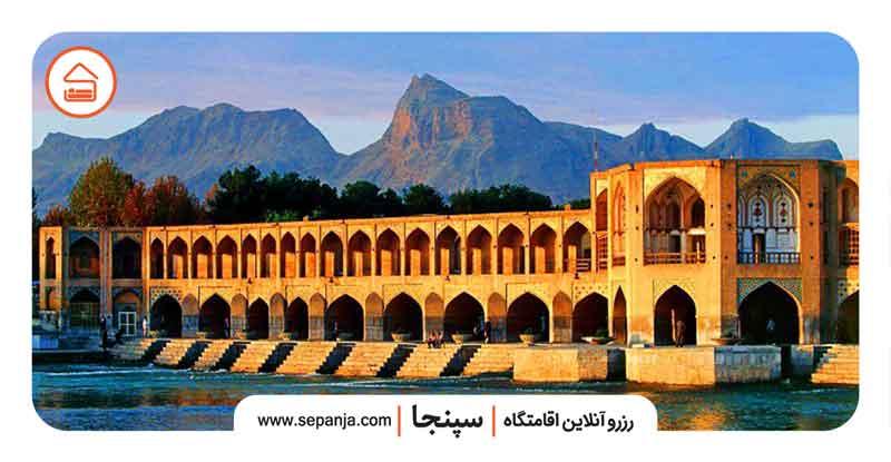 نمایی از پل خواجو اصفهان