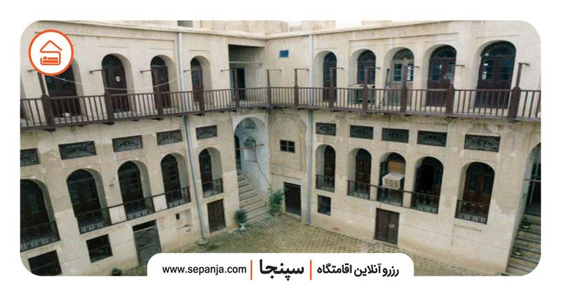 نمایی از عمارت کازرونی از بهترین جاهای دیدنی بوشهر