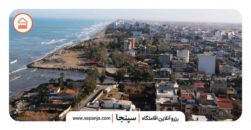 نمایی از شهر محمودآباد از بالا