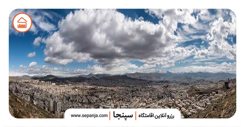 نمایی از جاهای دیدنی سنندج از بالا