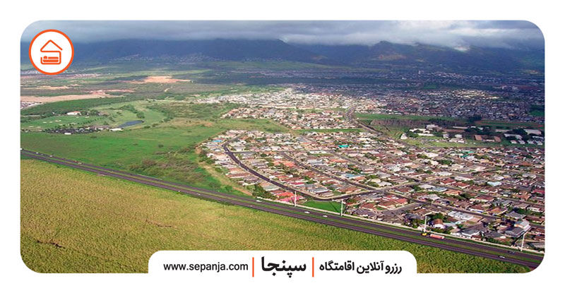 نمایی از شهر آستارا از بالا