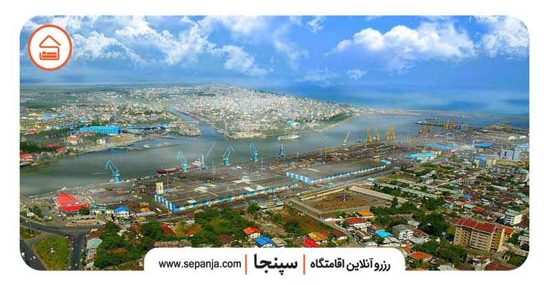 نمایی از شهر بندر انزلی از بالا