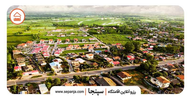 نمایی از شهر زیباکنار و دیدنی هایش