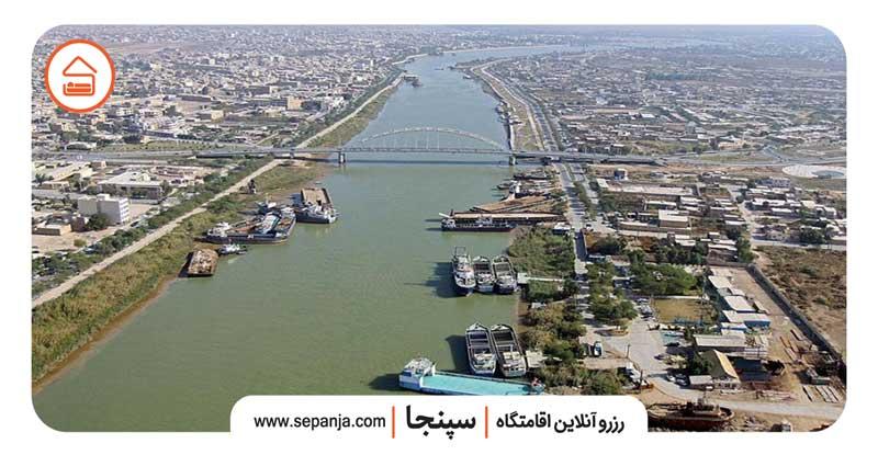نمایی از شهرستان آبادان از بالا