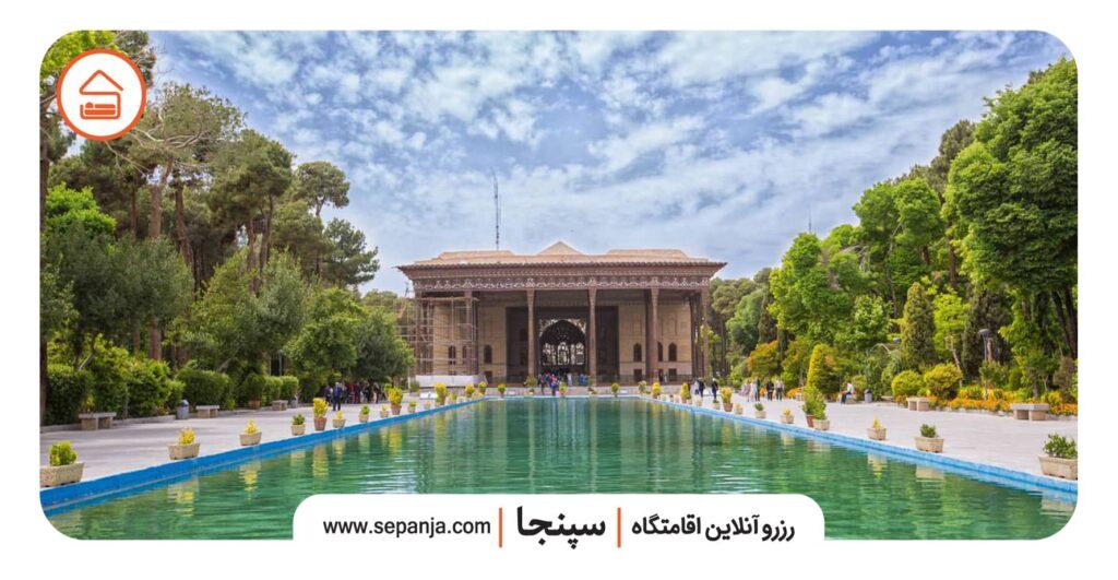 نمایی از کاخ چهل ستون اصفهان