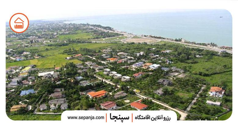 نمایی از شهر نوشهر از بالا