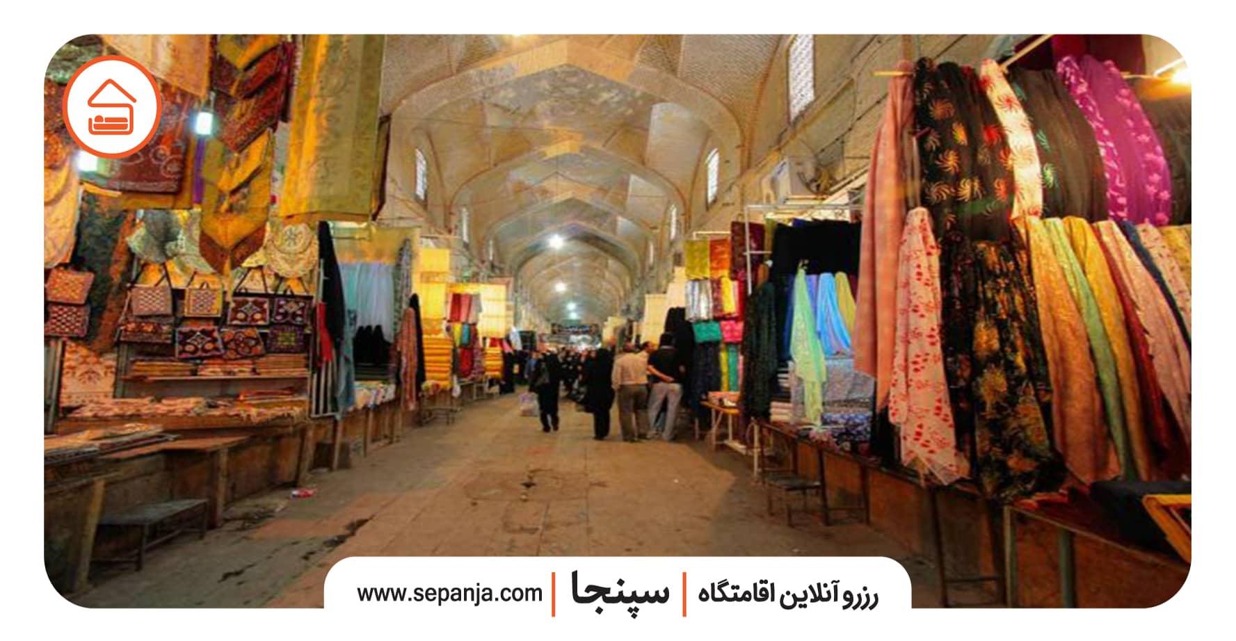نمایی از بازار وکیل از بهترین جاهای دیدنی شیراز