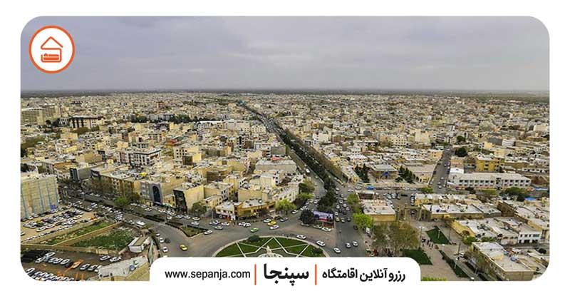 نمایی از شهر قزوین