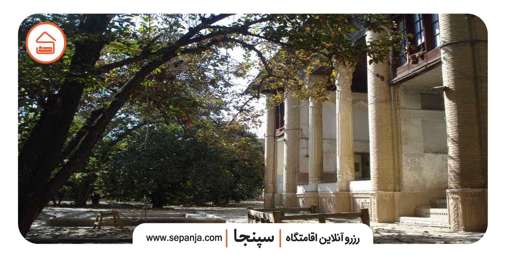 نمایی از باغ ایلخانی شیراز از بهترین جاهای دیدنی شیراز