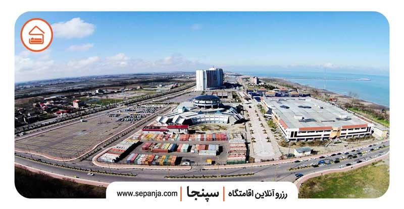 نمایی از شهر زیباکنار از بالا