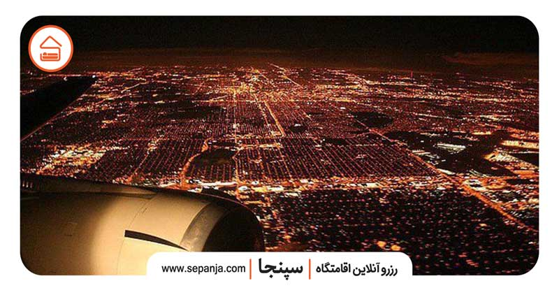 نمایی از شهرستان آبادان در شب