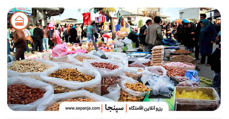 نمایی از بازار روز آمل