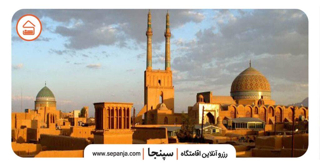 نمایی از مسجد جامع یزد