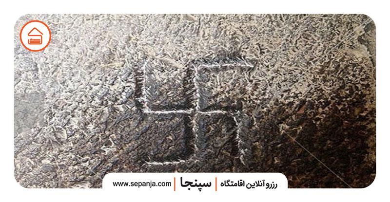 نمایی از علامت های پل خواجو اصفهان