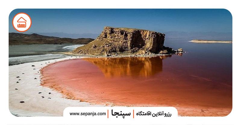 نمایی از دریاچه شهرستان ارومیه