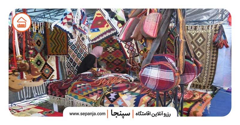 نمایی از صنایع دستی شهر لاهیجان