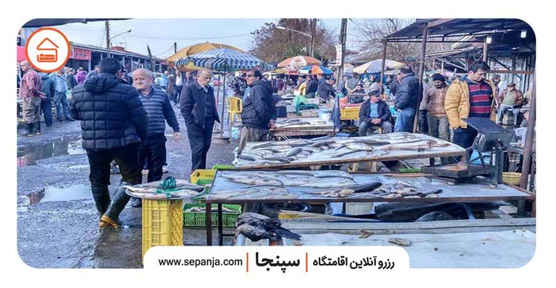 ماهی فروشی های آمل