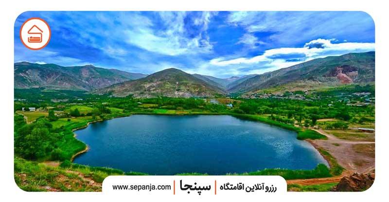 نمایی از طبیعت شهر قزوین