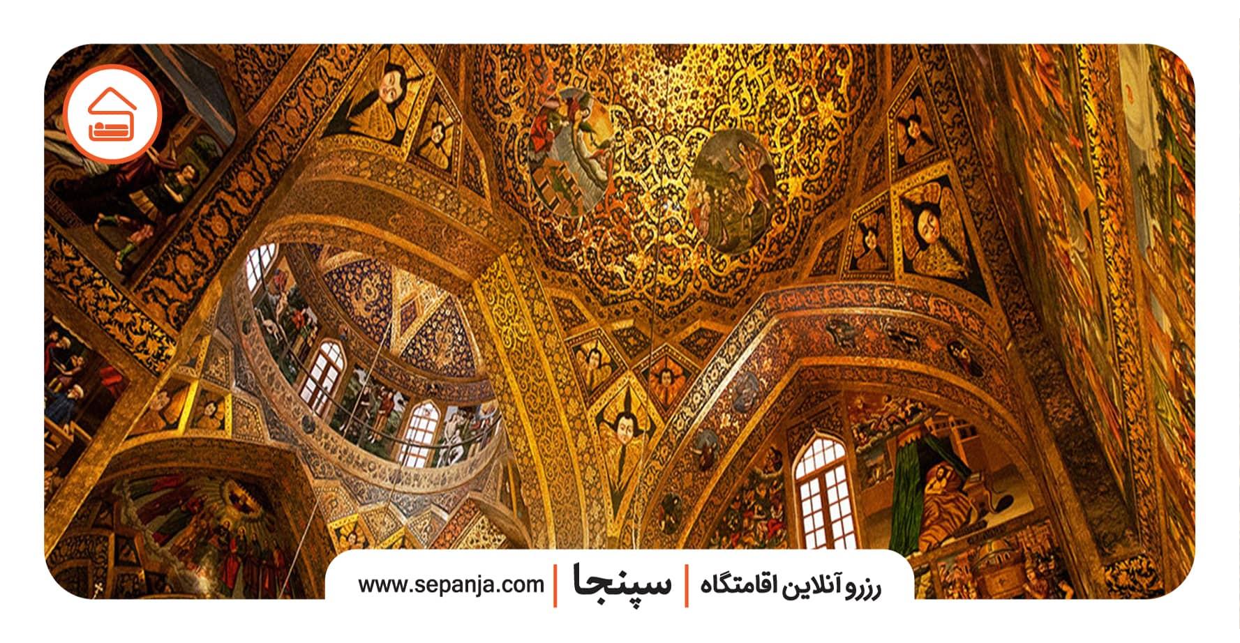 نمایی از تزئینات کلیسای وانک اصفهان