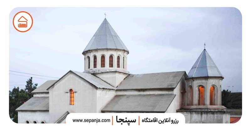 نمایی از کلیسای گاراپت مقدس از بهترین جاهای دیدنی شهرستان آبادان