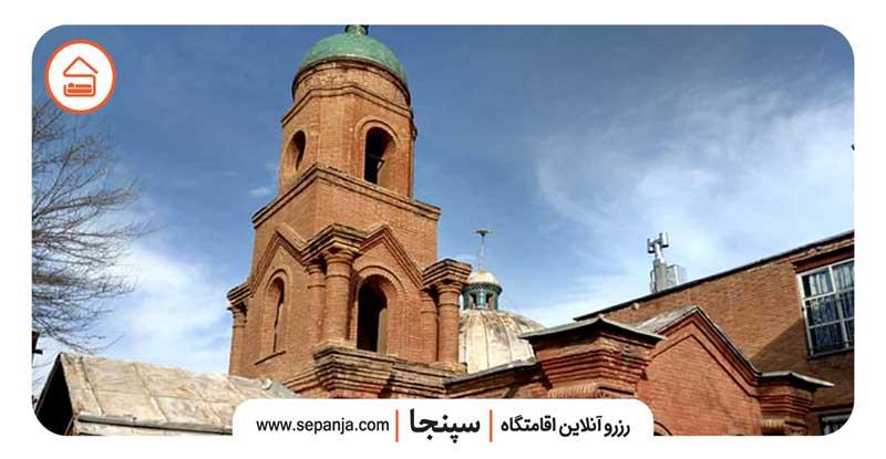 نمایی از کلیسای کانتور از بهترین جاهای دیدنی شهر قزوین