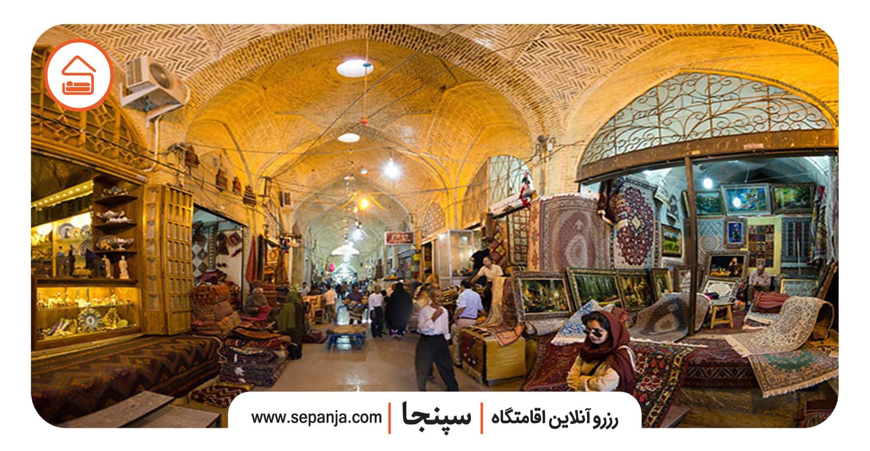 نمایی از بازار وکیل در شیراز